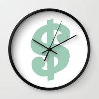 Mint Dollar Wall Clock