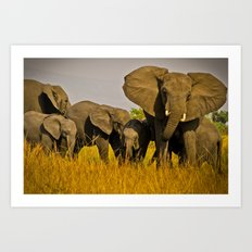The Whole Family is Here Art Print