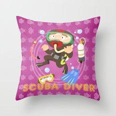 Scuba dive Throw Pillow