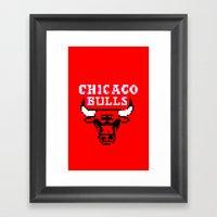 Bulls Bulls Bulls Framed Art Print