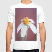 Small White Daisy 1 Mens Fitted Tee White SMALL