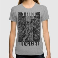 Tree Hugger Womens Fitted Tee Athletic Grey SMALL