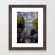 Fenland Reflections Framed Art Print