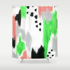 Green Pattern Shower Curtain
