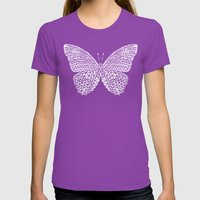 Butterfly #3 Womens Fitted Tee Ultraviolet SMALL
