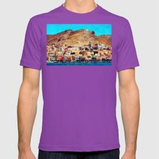 Kalymnos - Greek Island Mens Fitted Tee Ultraviolet SMALL