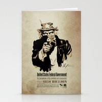 Wanted Poster Stationery Cards