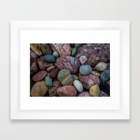 Rock Collection Framed Art Print
