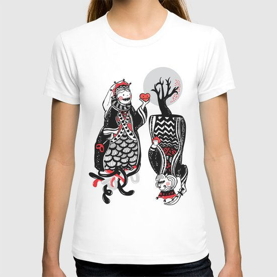 Queen and King of Hearts T-shirt
