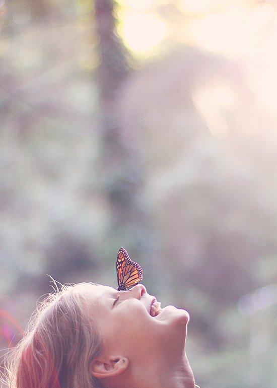 Butterfly Kisses Art Print