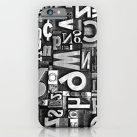 iPhone & iPod Case featuring Metal Madness - Typography Photography™ by Typography Photography™
