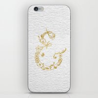 Gold Leaf Floral Ampersa… iPhone & iPod Skin