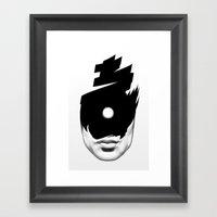 The Tide (Whiteout) Framed Art Print