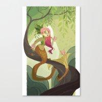 Jungle Mermaid Canvas Print