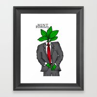 Mint Romney Framed Art Print