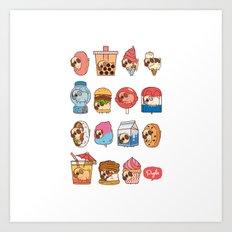 Puglie Food 3 Art Print