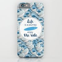 Life is a journey - surf waves iPhone 6 Slim Case