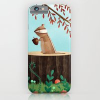 iPhone & iPod Case featuring Woodland Friends - Chipmunk by Stephanie Fizer Coleman