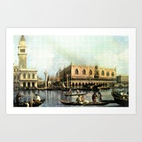 Return of the Bucintoro to the Molo on Ascension Day (Painted in 1729) Art Print