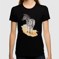 Zebra Womens Fitted Tee Black SMALL