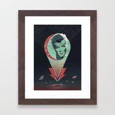 Far Above the Moon Framed Art Print