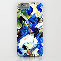 iPhone & iPod Case featuring Blue Intersections by Claudia McBain