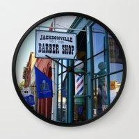 Jacksonville Barber Shop Wall Clock
