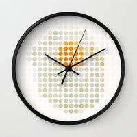 and egg. Wall Clock