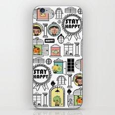 Pattern Stay Happy Animals iPhone & iPod Skin