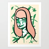 Plant Girl Art Print