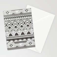 CRYSTAL AZTEC B/W  Stationery Cards