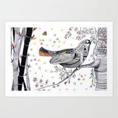 CHINA PRINT Art Print