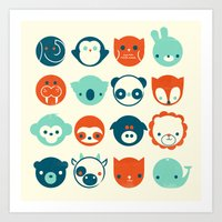 Art Print featuring Menagerie by Jay Fleck