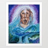 jesus Art Prints featuring Jesus by gretzky