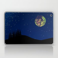 Fractal Moon Laptop & iPad Skin