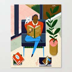 Frenchies Reading Frenchies   Canvas Print