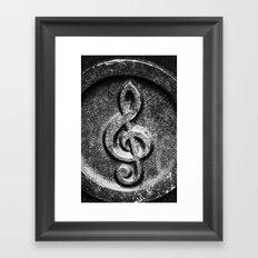 Nashville Music Note Framed Art Print