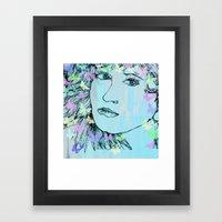 Butterfly Girl  - JUSTART © Framed Art Print