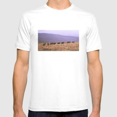 Horse Line SMALL White Mens Fitted Tee