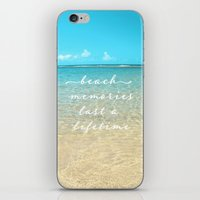 Beach memories last a life time iPhone & iPod Skin