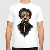 Edgar Allan Poe Zombie Mens Fitted Tee White SMALL