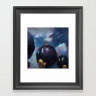 Framed Art Print featuring Mario by Ronan Lynam