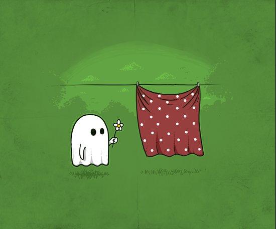 Friendly Ghost Art Print
