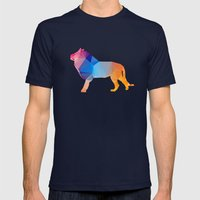 Glass Animal Series - Lion Mens Fitted Tee Navy SMALL