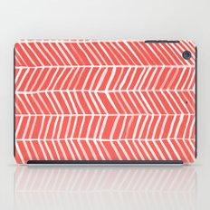 Coral Herringbone iPad Case