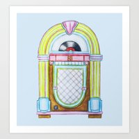 Jukebox Art Print