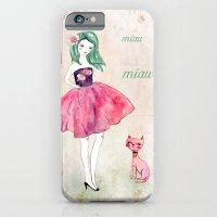 Pink cat iPhone 6 Slim Case