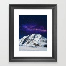 Snow + Galaxy #society6 #decor #buyart Framed Art Print