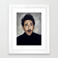 Adrien Brody / Grand Bud… Framed Art Print