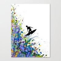 A Pollock's Point Break Canvas Print